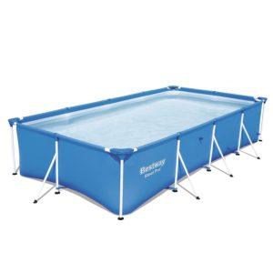 "Bestway Steel Pro 157 x 83 x 32"" Rectangular Frame Above Ground Swimming Pool"