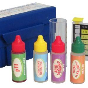 Swimming Pool Water Test Kit - Ch, Br, pH, Tot Alk, Acid Demand