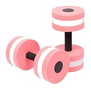 Qzc Foam Dumbbells Water Aerobics Fitness and Pool Exercises Dumbbells Set of 2 PCS (Pink)