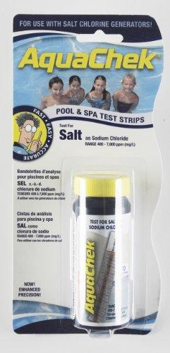 AquaChek 561140A Salt Water Swimming Pool Test Strips   White