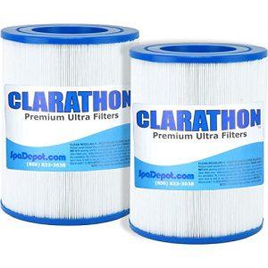 2  AquaRest   Dream Maker Hot Tub Spa Filters (Round Cartridge) Aqua Rest Twin Pack by Clarathon