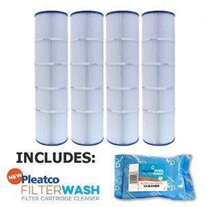 4 Pack Pleatco Cartridge Filter PJAN115-PAK4 Pack of 4 Jandy CL460 A0558000 w  1x Filter Wash