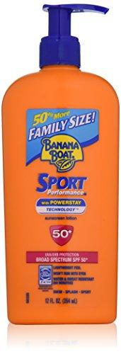Banana Boat Sunscreen Sport Family Size Broad Spectrum Sun Care Sunscreen Lotion   SPF 50  12 ounce