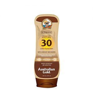 Australian Gold SPF 30 Lotion Sunscreen With Kona Bronzers  8 Fl Oz