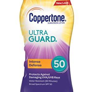 Coppertone ULTRA GUARD Sunscreen Lotion Broad Spectrum SPF 50 (8 Fluid Ounce)