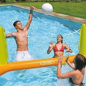 Intex Kids Backyard Fun Play Pool Volleyball Game Slide Inflatable Center Summer Outdoor Pool Fun Swimming