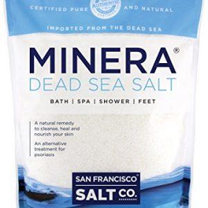 Minera Natural Dead Sea Salt  5lbs Bulk   Fine Grain