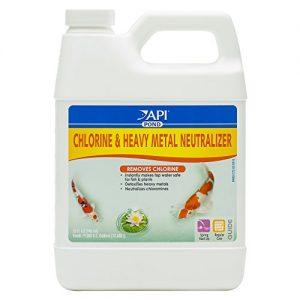 API POND CHLORINE & HEAVY METAL NEUTRALIZER Pond Water Neutralizer 32 Ounce Bottle