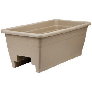 Akro Mils (SPX24DB0E32) Deck Box Planter  Mocha  12-Inch