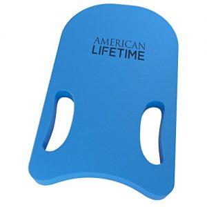 American Lifetime Kickboard - Lightweight Foam Swim Board - Swimming Training Aid for Adults and Kids (Blue)
