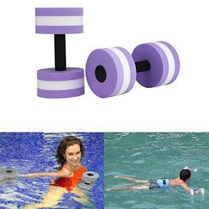 Aolvo Water Aerobics Dumbbells  Water EVA Foam Barbells Exercise Hand Bars Pool Resistance Exercises Equipment for Training Yoga Fitness Improve and Pool Sports Women Men Set of 2