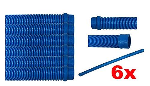 Automatic Pool Cleaner Universal 40 x1 5  Hose Works Kreepy Kauly Baracuda Zodiac Jandy Pentair As W20460 W83140 G2 G3 G4 6 Pack - Aqua Blue