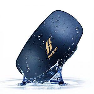 BEKER Underwater Smart Wear MP3 Player for Swimming | Open Ear Bone Conduction Waterproof Audio Mini Speaker | No Headphones Needed (Black)