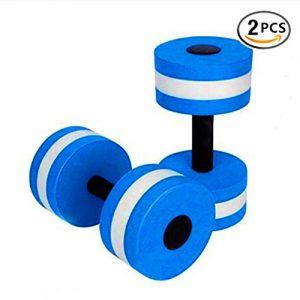 BigBoss Sports Aquatic Exercise Dumbbells Aqua Fitness Barbells Exercise Hand Bars - Set of 2 - For Water Aerobics