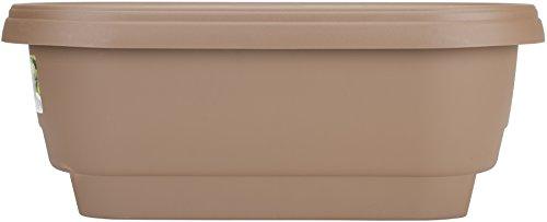 Bloem Deck Balcony Rail Planter 24  Chocolate