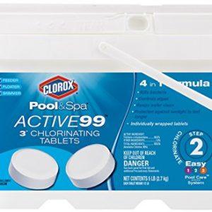 "CLOROX Pool&Spa 22005CLXW Active99 3"" Chlorinating Tablets"