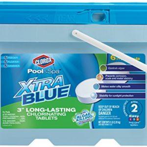 CLOROX Pool&Spa 23005CLX XtraBlue 3 Inch Long Lasting Chlorinating Tablets  5 Pound Chlorine