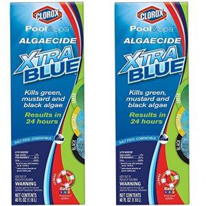 CLOROX Pool&Spa Algaecide Xtra Blue  40 Ounce 43040CLX  Pack of 2