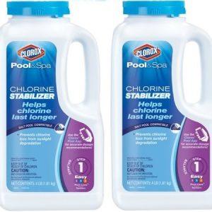 CLOROX Pool&Spa Chlorine Stabilizer  4 Pound 10004CLX (2 Pack(4 Pound))