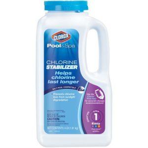 CLOROX Pool&Spa Chlorine Stabilizer  4 Pound 10004CLX (4 Pack(4 Pound))