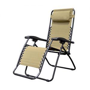 Caravan Sports Infinity Zero Gravity Chair  Beige