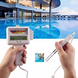 Chlorine PH Tester Kit Pool Water Tester Electronic Water Quality Analysis Water Test Meter