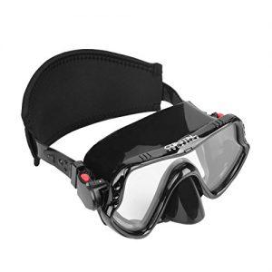 Coastal Aquatics Adult Snorkel Mask   Diving Mask   Scuba Mask   Anti Fog Lens   Tempered Glass   Neoprene Strap Cover (Black)