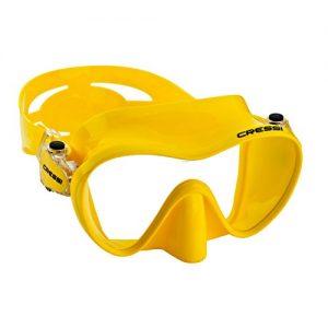 Cressi Scuba Diving Snorkeling Frameless Mask  Yellow