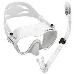 Cressi Scuba Diving Snorkeling Freediving Mask Snorkel Set  White