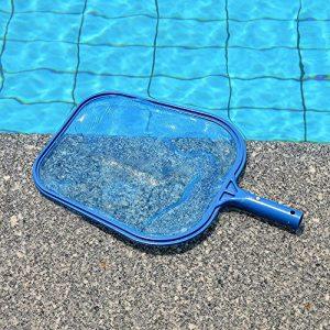 Dreamyth Swimming Pool Universal Skimmer Cleaning Net Heavy Duty Leaf Mesh Skimmer (Blue)