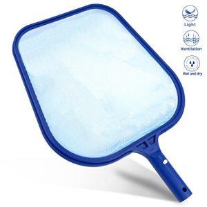 Gifort Pool Skimmer Net  Leaf and Pool Leaf Mesh Net Swimming Pool Clean Accessories for Spa Swimming Pools (Blue)