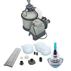 Intex 1200 GPH Krystal Clear Sand Pool Filter Pump Set   Kokido V-Trap Vacuum