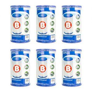 Intex Full Case of 6 Brand Type B Pool Filter Cartridges - For Model 51  633  633T  621  520  520R  530  530R  CS8