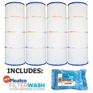 Pleatco Cartridge Filter PCC80-PAK4 Pack of 4 Pentair Clean   Clear Plus 320 R173573 w 1x Filter Wash