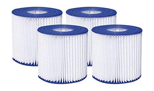 SUMMER WAVES 4 13  x 3 75  Type D Filter Cartridge (4 Pack)