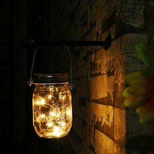 Solar Mason Jar Light Solar Glass Lantern Warm White Fairy String Lights solar light Decor in Pation Garden Christmas
