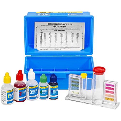 XtremepowerUS 5 Way Swimming Pool Test Kit pH  Chlorine  Bromine  Alkalinity Testing