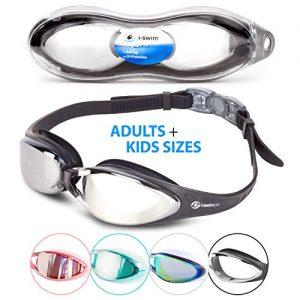 i Sports Pro Anti Fog  UV Protected Swim Goggle  Black